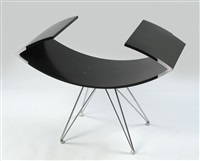 black nefertiti- chair by ofer zick