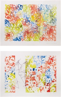 odalisque (+ feet,; 2 works) by ghada amer
