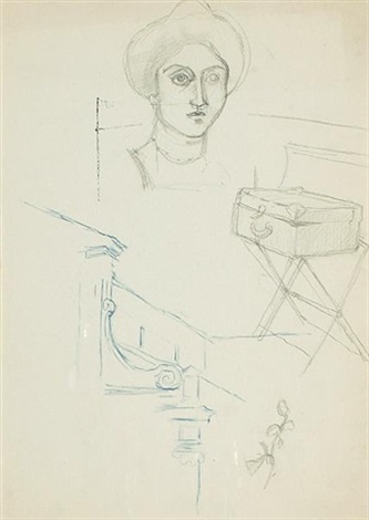 study of female head and other objects by william coldstream