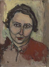 untitled (portrait of leah farber) by mark rothko