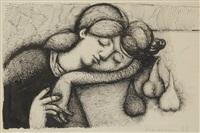 femme endormie by marios prassinos