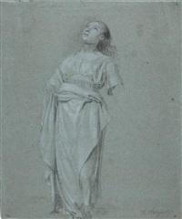 etude de femme en pied (study) by hendrik hoogers