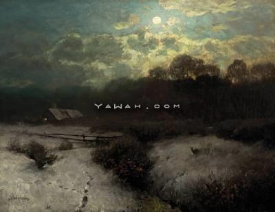 vinterlandskap i måneskinn by sophus jacobsen