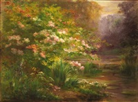 bord de rivière fleuri by edmond allouard