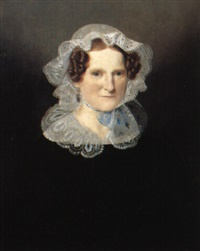 portraet af marie de brinck seidelin by louis auguste francois aumont
