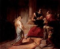 könig lear verstösst cordelia by august von heckel