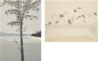 swamp maple 2; late july 2 (2 works) by alex katz