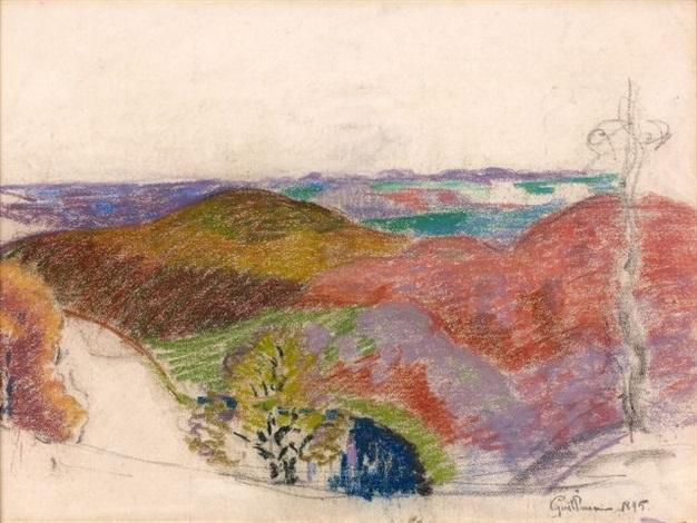 étude de paysage study by armand guillaumin
