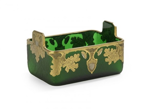 Legras Cut and Gilded Art Glass Ice Tub by Legras (Co ) on