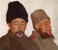 zwei kirgisische soldaten by herbert arnold