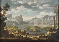 siège d'une ville fortifiée by jan van bunnick