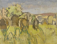 the churchyard, chagford by walter richard sickert
