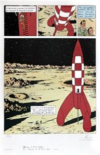 tintin, on a marché sur la lune by hergé