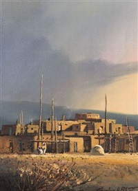 summer rain/a pueblo view by charles h. pabst