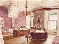 hofburg, arbeitszimmer von i. hofrat franz freiherr von wetschl by j. karl peyfuss