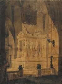 projet de tombeau de l'imperatrice josephine by jean baptiste auguste labadye