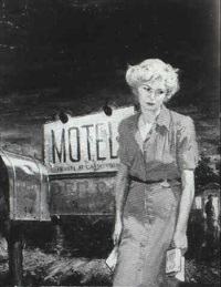 paperback book cover: dejected woman standing by mailbox by stanley meltzoff