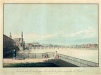 vue de la ville de dresde... by friedrich august von lawrence