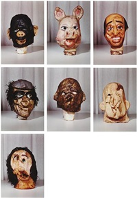 masks (small) from the propo series (portfolio of 7) by paul mccarthy
