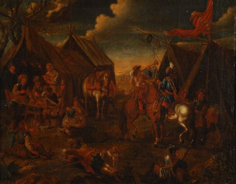 campements militaires 2 works by philips wouwerman