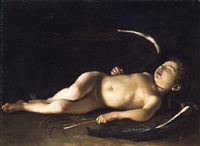 cupid sleeping by orazio fidani
