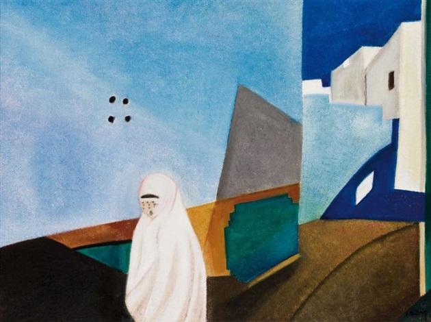 femme dans la kasbah by simon avissar