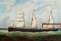 ship portrait of s/s harald by edward adams