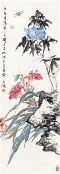 花鸟 立轴 纸本 by wang xuetao