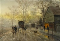 the return home, dusk by frank f. english