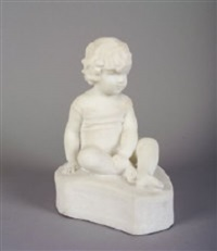 figure of a boy seated by sophia rosamund praeger