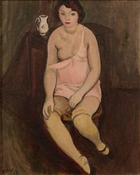femme aux bas jaunes by georges (karpeles) kars