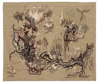 tapisserie racines au ciel by dirk holger