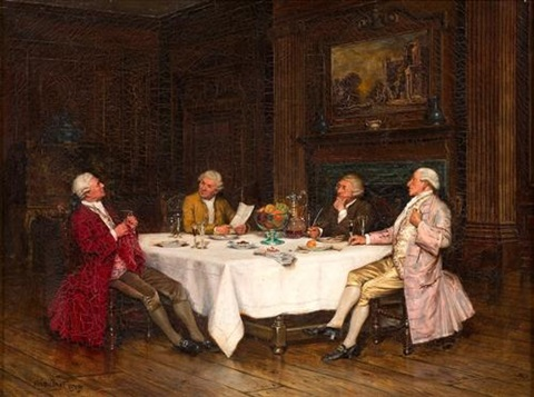 gentlemen at the table by frank moss bennett