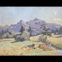 paesaggio alpino by pio solero