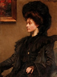 portrait of ethel cooper, daughter of the late john wilson cooper esq. by alfred sangster
