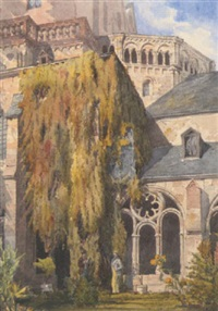 cloisters of cathedral, treves by richard phene spiers