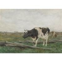 cattle grazing by horatio walker