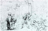 job lying on the dunghill being mocked by his friends by constantijn daniel van renesse