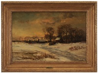 winter landscape with farm by charles p. appel