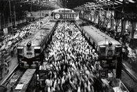 church gate station, bombay, india by sebastião salgado