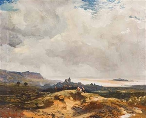 view of the downs by samuel bough