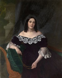 portrait of an italian lady by alexei vassileivich tyranoviev