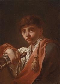 knabe mit einer flöte by domenico maggiotto
