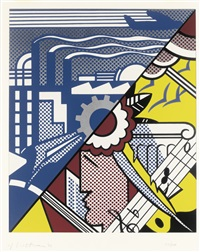 industry and the arts (i) by roy lichtenstein
