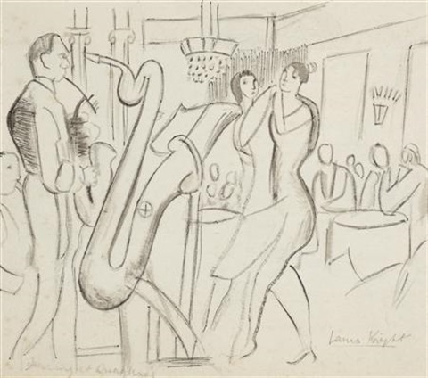 dancing at quaglinos by dame laura knight