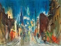 montreal at night by john stanley walsh