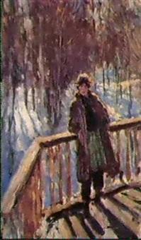 la terrasse, jour d'hiver by lidia davidenkova