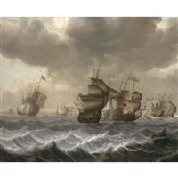 a naval engagement by pieter coopse