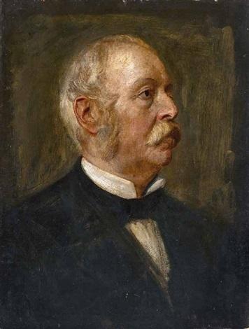 brustbild marco minghettis (1818-1886), italienischer politiker und journalist by franz seraph von lenbach
