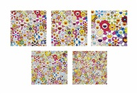 five prints by the artist, comprising: by takashi murakami